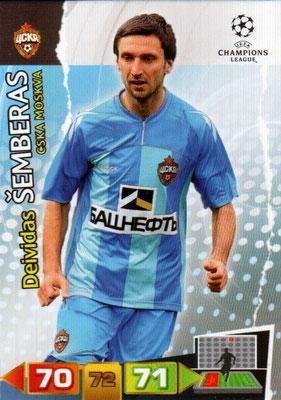 2011-12 - Panini Champions League Cards - N° 098 - Deividas SEMBERAS (CSKA Moscou)