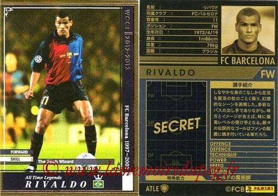 2012-13 - WCCF - N° ATLE09 - RIVALDO (FC Barcelone) (All-Time Legend)