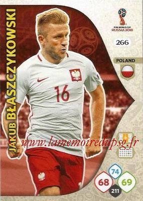 2018 - Panini FIFA World Cup Russia Adrenalyn XL - N° 266 - Jakub BLASZCZYKOWIAK (Pologne)