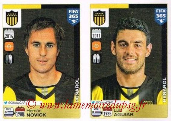2015-16 - Panini FIFA 365 Stickers - N° 843-844 - Hernán NOVICK + Luis AGUIAR (Penarol)
