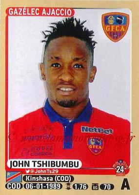 2015-16 - Panini Ligue 1 Stickers - N° 022 - John TSHIBUMBU (Gazélec Ajaccio)