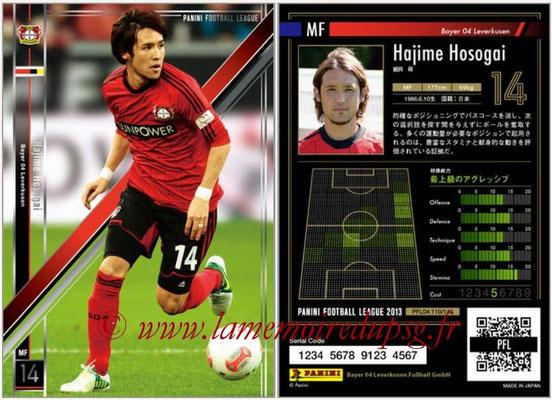Panini Football League 2013 - PFL04 - N° 110 - Hajime HOSOGAI (Bayer Leverkusen)