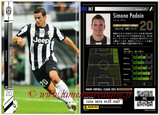 Panini Football League 2013 - PFL03 - N° 012 - Simone Padoin (Juventus FC)