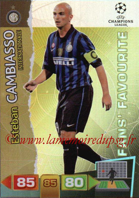 2011-12 - Panini Champions League Cards - N° 308 - Esteban CAMBIASSO (Inter Milan) (Fans' Favourite)