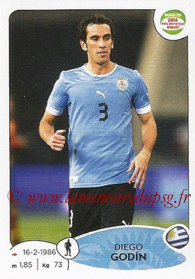 2014 - Panini Road to FIFA World Cup Brazil Stickers - N° 076 - Diego GODIN (Uruguay)