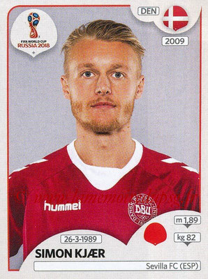 2018 - Panini FIFA World Cup Russia Stickers - N° 256 - Simon KJAER (Danemark)