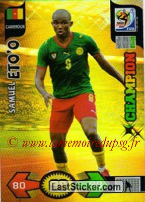 2010 - Panini FIFA World Cup South Africa Adrenalyn XL - N° 060 - Samuel ETO'O (Cameroun) (Champion)
