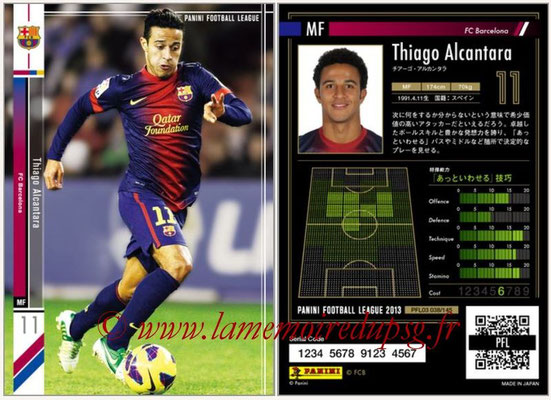 Panini Football League 2013 - PFL03 - N° 038 - Thiago Alcantara (FC Barcelone)