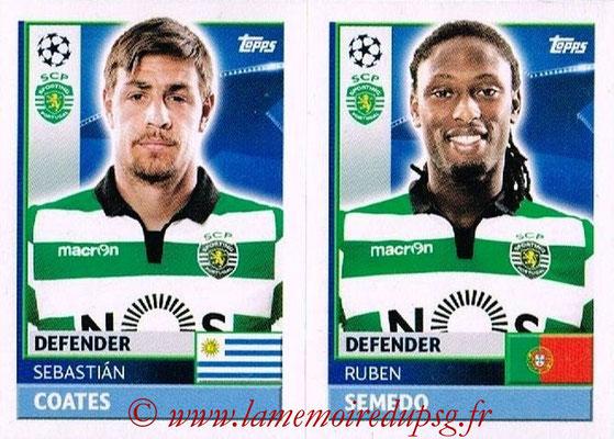 2016-17 - Topps UEFA Champions League Stickers - N° SPO 10-11 - Ruben SEMEDO + Sebastian COATES (Sporting CP)