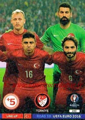 Panini Road to Euro 2016 Cards - N° 243 - Equipe Turquie 3