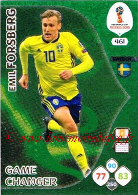 2018 - Panini FIFA World Cup Russia Adrenalyn XL - N° 461 - Emil FORSBERG (Suede) (Game Changer)