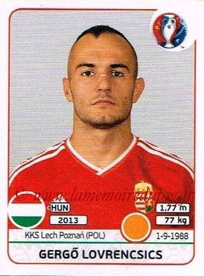 Panini Euro 2016 Stickers - N° 675 - Gergo LOVRENCSICS (Hongrie)