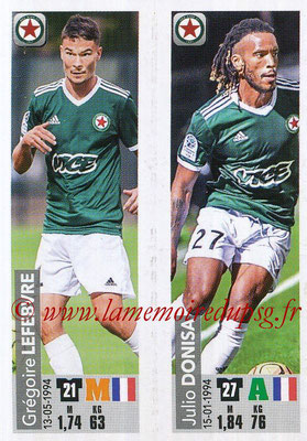 2018-19 - Panini Ligue 1 Stickers - N° 555 - Grégoire LEFEBVRE + Julio DONISA (Red Star FC)