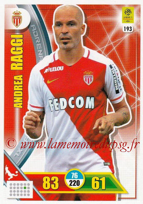 2017-18 - Panini Adrenalyn XL Ligue 1 - N° 193 - Andrea RAGGI (Monaco)