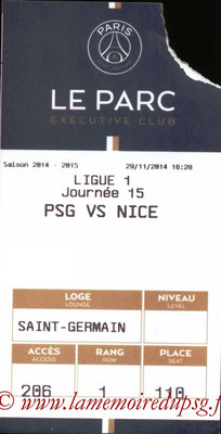 Tickets PSG-Nice  2014-15