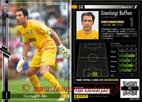 Panini Football League 2015 - PFL10 - N° 006 - Gianluigi BUFFON (Juventus FC)