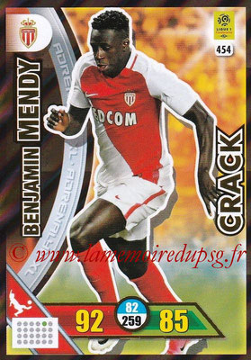 2017-18 - Panini Adrenalyn XL Ligue 1 - N° 454 - Benjamin MENDY (Monaco) (Crack)