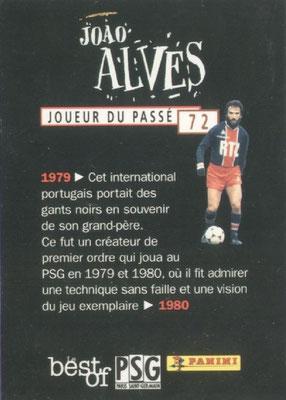 N° 072 - Joao ALVES (Verso)