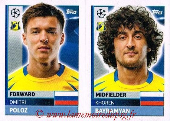 2016-17 - Topps UEFA Champions League Stickers - N° QFK 13-14 - Khoren BAYRAMYAN + Dmitriy POLOZ (FC Rostov)
