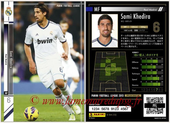 Panini Football League 2013 - PFL04 - N° 044 - Sami KHEDIRA (Real Madrid)