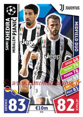 2017-18 - Topps UEFA Champions League Match Attax - N° 378 - Sami KHEDIRA + Miralem PJANIC (Juventus) (Midfield Duo)
