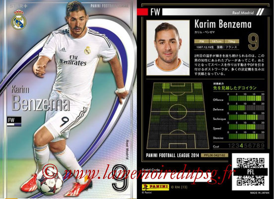 Panini Football League 2014 - PFL06 - N° 042 - Karim BENZEMA (Real Madrid CF) (Star +)