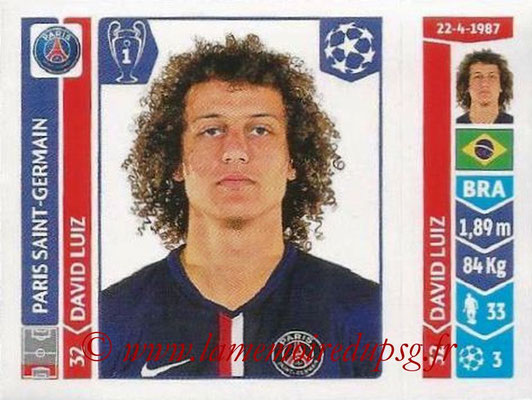2014-15 - Panini Champions League N° 438 - David LUIZ (Paris Saint-Germain)