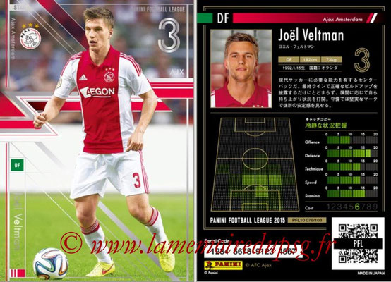 Panini Football League 2015 - PFL10 - N° 076 - Joël VELTMAN (Ajax) (Star)