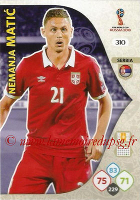 2018 - Panini FIFA World Cup Russia Adrenalyn XL - N° 310 - Nemanja MATIC (Serbie)