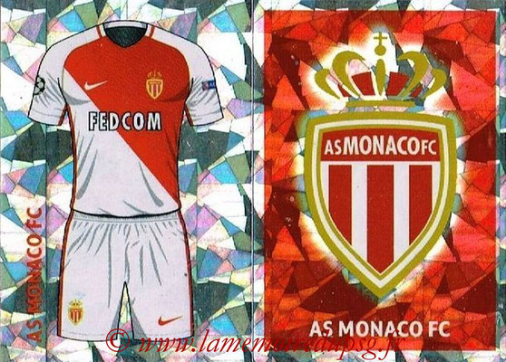 2016-17 - Topps UEFA Champions League Stickers - N° QFH 1-2 - Logo + Maillot Domicile (AS Monaco)