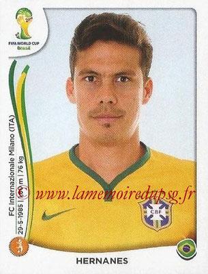 2014 - Panini FIFA World Cup Brazil Stickers - N° 043 - HERNANES (Brésil)