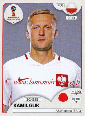 2018 - Panini FIFA World Cup Russia Stickers - N° 597 - Kamil GLIK (Pologne)