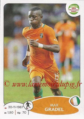 2014 - Panini Road to FIFA World Cup Brazil Stickers - N° 388 - Max GRADEL (Côte d'Ivoire)