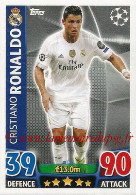 2015-16 - Topps UEFA Champions League Match Attax - N° 089 - Cristiano RONALDO (Real Madrid CF)