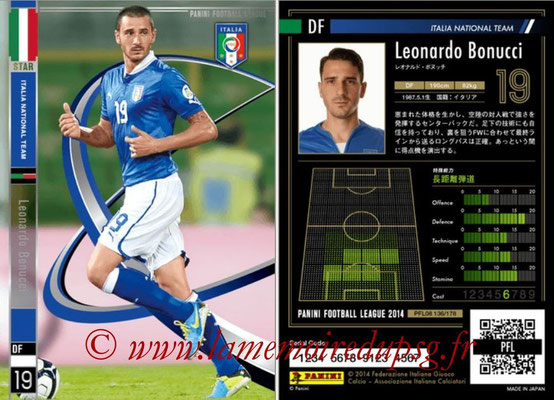 Panini Football League 2014 - PFL08 - N° 137 - Leonarda BONUCCI (Italie) (Star)