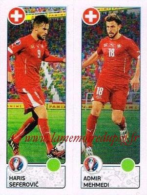 Panini Euro 2016 Stickers - N° 100 - Haris SEFEROVIC + Admir MEHMEDI (Suisse)