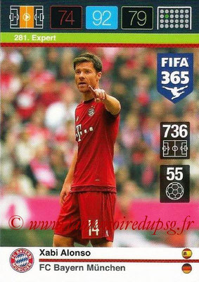 2015-16 - Panini Adrenalyn XL FIFA 365 - N° 281 - Xabi ALONSO (FC Bayern Munich) (Expert)