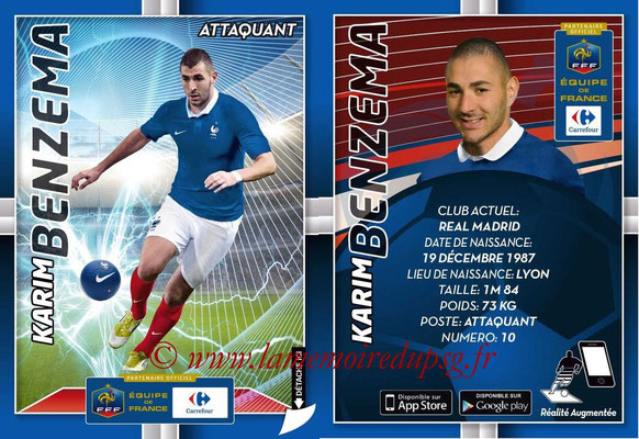 WC 2014 Collection Carrefour 3D Bleus - N° 17 - Karim BENZEMA (Real Madrid)