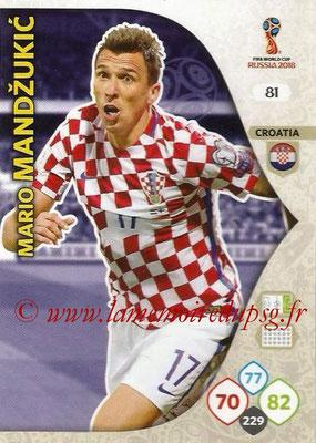 2018 - Panini FIFA World Cup Russia Adrenalyn XL - N° 081 - Mario MANDZUKIC (Croatie)