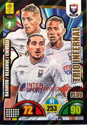 2018-19 - Panini Adrenalyn XL Ligue 1 - N° 530 - Yacine BAMMOU + Claudio BEAUVUE + Enzo CRIVELLI (Caen) (Trio Infernal Plus)