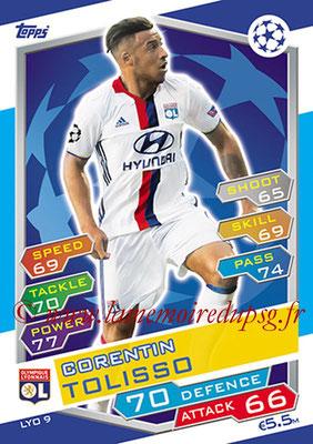 2016-17 - Topps UEFA Champions League Match Attax - N° LYO9 - Corentin TOLISSO (Olympique Lyonnais)