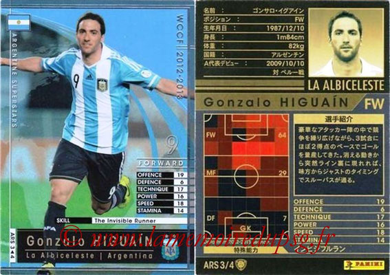 2012-13 - WCCF - N° ARS3 - Gonzalo HIGUAIN (Argentine)