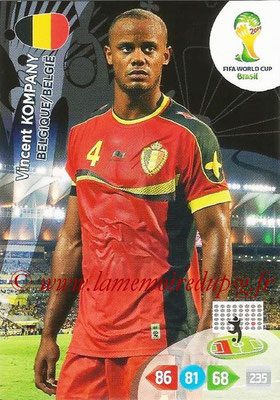 2014 - Panini FIFA World Cup Brazil Adrenalyn XL - N° 029 - Vincent KOMPANY (Belgique)