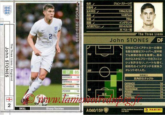 2015-16 - Panini WCCF - N° A060 - John STONES (Angleterre)