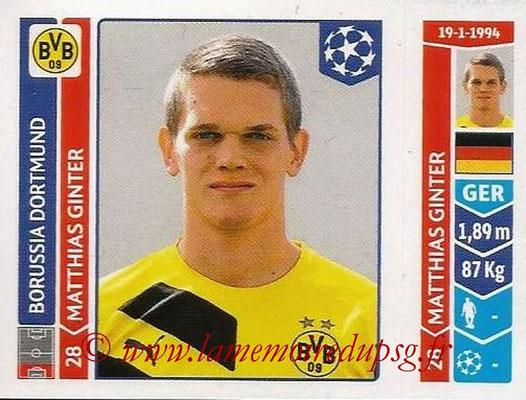 2014-15 - Panini Champions League N° 283 - Matthias GINTER (Borussia Dortmund)