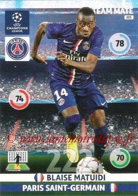 2014-15 - Adrenalyn XL champions League N° 203 - Blaise MATUIDI (Paris Saint-Germain)