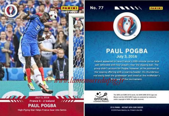 Panini Instant Euro 2016 - N° 077 - Paul POGBA