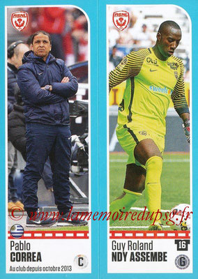 2016-17 - Panini Ligue 1 Stickers - N° 554 +555 - Pablo CORREA + Guy Roland NDY ASSEMBE (Nancy)