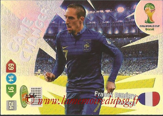 2014 - Panini FIFA World Cup Brazil Adrenalyn XL - N° 398 - Franck RIBERY (France) (Game Changer)