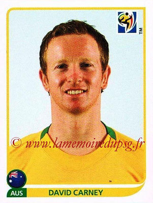 2010 - Panini FIFA World Cup South Africa Stickers - N° 284 - David CARNEY (Australie)